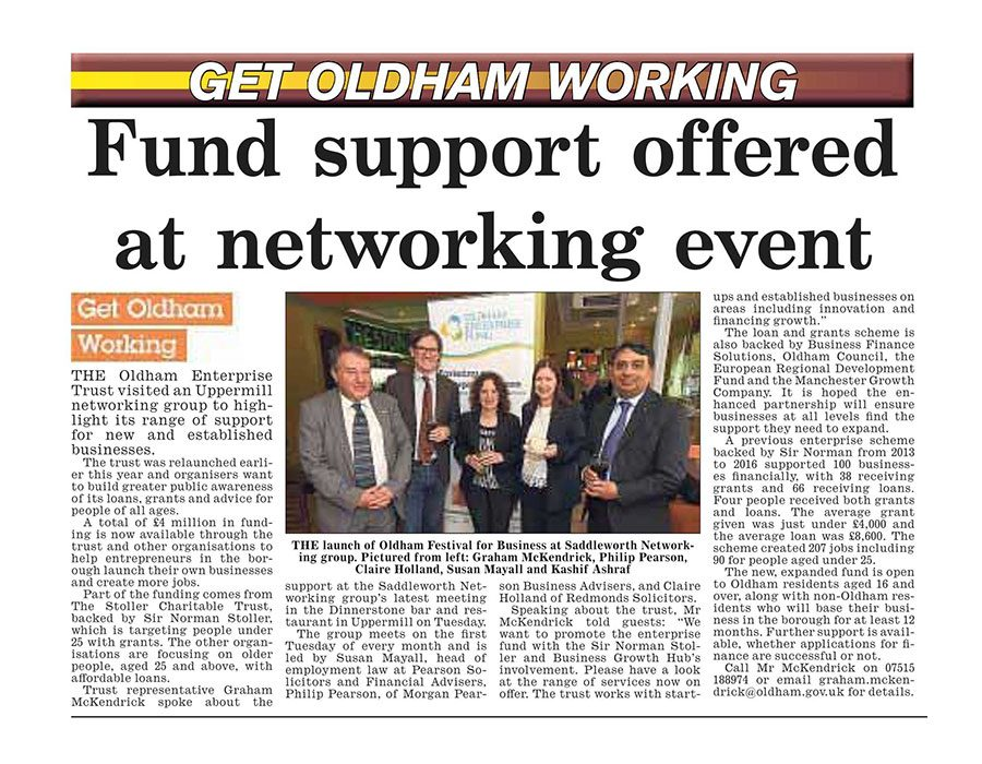 Launch of Oldham Festival for Business 2017