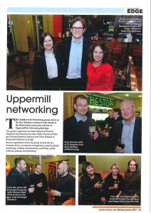 Saddleworth Networking in Oldham Business Edge magazine
